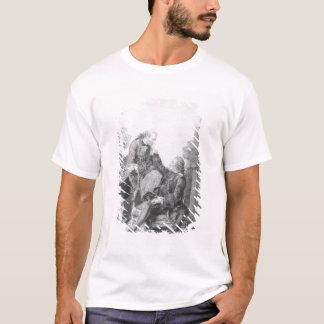 ドゥニ・ディドロおよびMelchiorのde Grimm男爵 Tシャツ