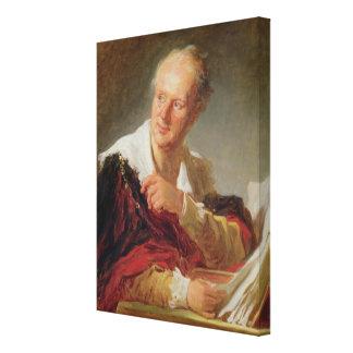 ドゥニ・ディドロc.1769のポートレート キャンバスプリント