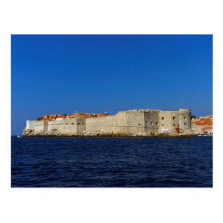 ドゥブロブニクの古い都市、クロアチア ポストカード