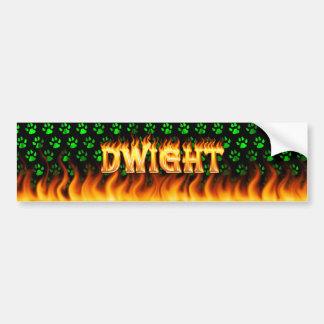 ドゥワイトの実質火および炎のバンパーステッカーは設計します バンパーステッカー