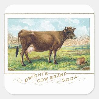 ドゥワイトの牛ブランドのソーダ スクエアシール