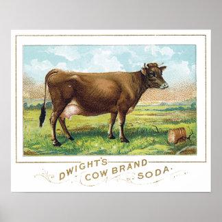 ドゥワイトの牛ブランドのソーダ ポスター