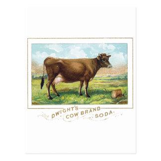 ドゥワイトの牛ブランドのソーダ ポストカード