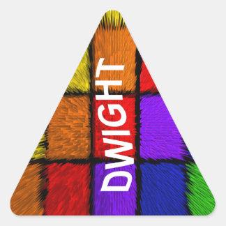 ドゥワイト 三角形シール