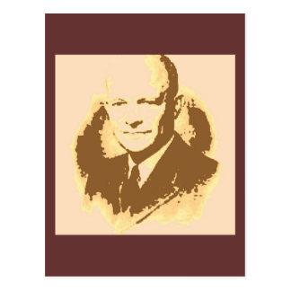 ドゥワイトDアイゼンハワーのポップアート ポストカード