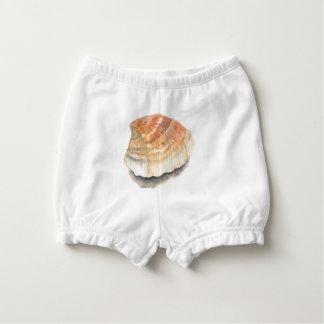 ドクムギの海の貝、黄色およびオレンジを浜に引き上げて下さい おむつカバー
