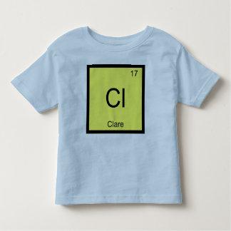 ドクレア一流化学要素の周期表 トドラーTシャツ