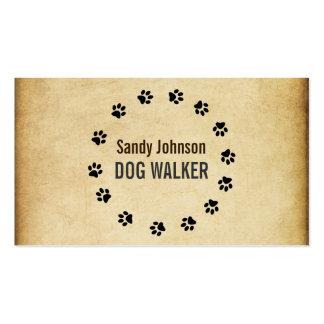 ドッグウォーカーの歩くペット着席のサービス業 スタンダード名刺