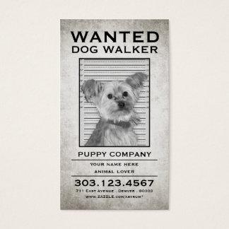 ドッグウォーカーはポスターがほしいと思いました 名刺