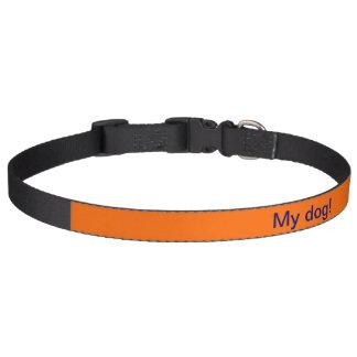 ドッグカラーのオレンジ ペット首輪