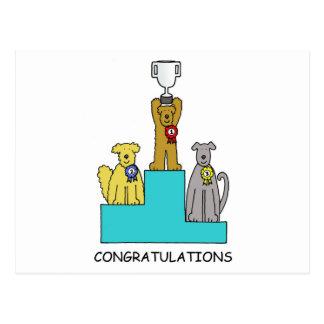 ドッグショーの成功のお祝い ポストカード