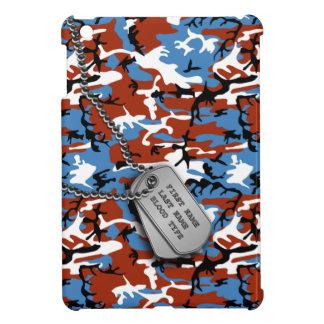 ドッグタッグとの愛国心が強い迷彩柄 iPad MINIケース