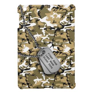 ドッグタッグとの砂漠の砂の迷彩柄 iPad MINI カバー