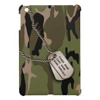 ドッグタッグとの軍の緑の迷彩柄 iPad MINIカバー
