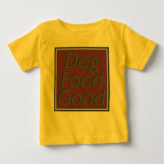 ドッグフードのよII乳児のTシャツ ベビーTシャツ