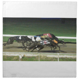 ドッグレースのグレイハウンドのスポーツのなイメージ ナプキンクロス