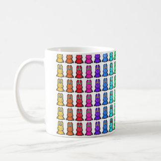 ドット絵風座ったうさぎのグラデーション柄 コーヒーマグカップ