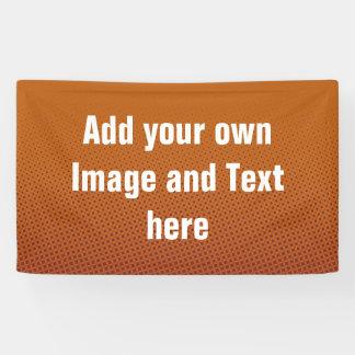 ドット・パターンの暗闇-オレンジ赤 + あなたのアイディア 横断幕