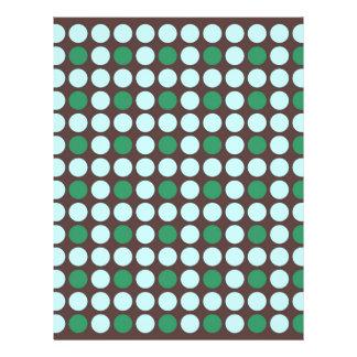 ドット・パターンの背景の抽象芸術の質の円ro レターヘッド