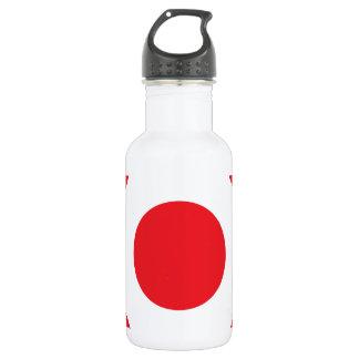 ドット・パターンの赤 ウォーターボトル