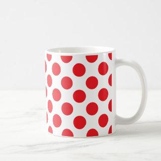 ドット・パターンの赤 コーヒーマグカップ