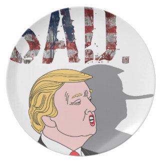 ドナルド・トランプおもしろいで皮肉で悲しい反大統領 プレート