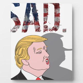 ドナルド・トランプおもしろいで皮肉な反大統領 フォトプラーク