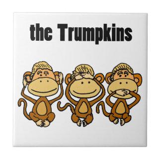 ドナルド・トランプおもしろいなTrumpkinsの政治芸術 タイル