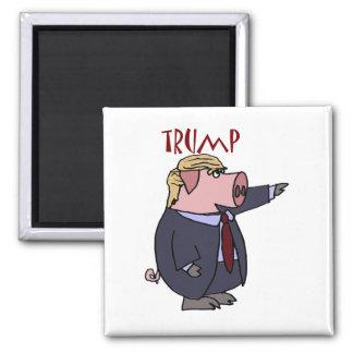 ドナルド・トランプのおもしろいなブタの政治漫画 マグネット