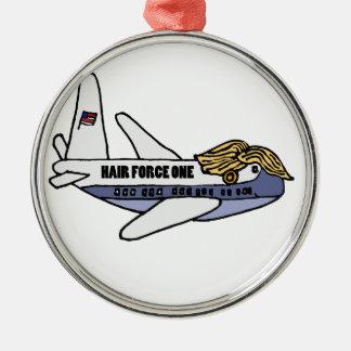 ドナルド・トランプのおもしろいな大統領のな飛行機 メタルオーナメント