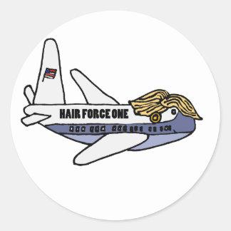 ドナルド・トランプのおもしろいな大統領のな飛行機 ラウンドシール