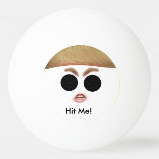 ドナルド・トランプのピンポン球。  それに当って下さい! 卓球ボール