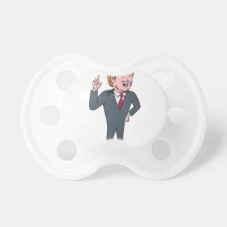 ドナルド・トランプの共和党の候補者の漫画 おしゃぶり