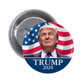 ドナルド・トランプの写真-大統領2020年十分に-は言いました 5.7CM 丸型バッジ