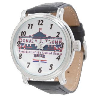 ドナルド・トランプの大統領当選者ヴィンテージの革腕時計 腕時計