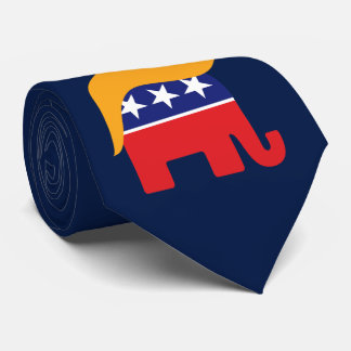 ドナルド・トランプの毛GOP象のロゴ ネクタイ