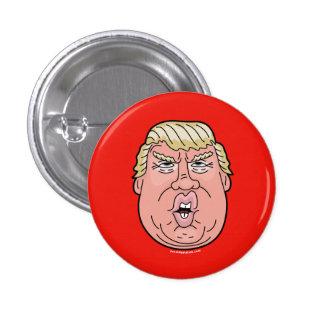 ドナルド・トランプの漫画の顔2016ボタンかピン 3.2CM 丸型バッジ