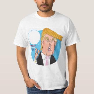 ドナルド・トランプの漫画のTシャツ-キャプションを書きます Tシャツ