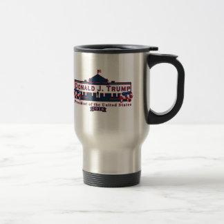 ドナルド・トランプの赤白青15のozのコーヒー・マグ トラベルマグ