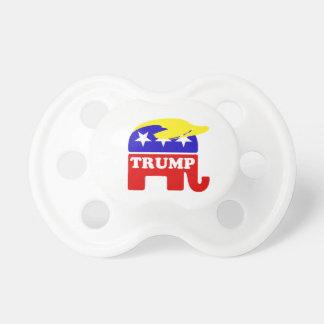 ドナルド・トランプのToupeeの共和党員象 おしゃぶり
