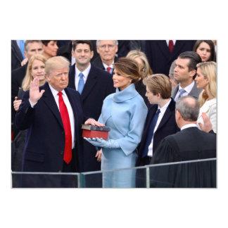 ドナルド・トランプは大統領として誓われます カード