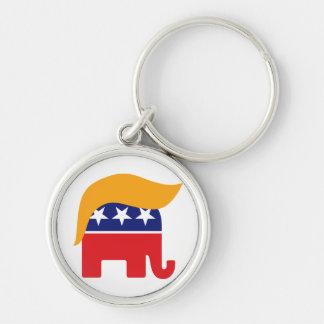 ドナルド・トランプ共和党象の毛のロゴ キーホルダー