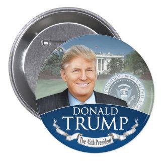 ドナルド・トランプ第45大統領-就任式 7.6CM 丸型バッジ