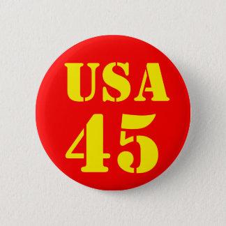 ドナルド・トランプ米国45 5.7CM 丸型バッジ