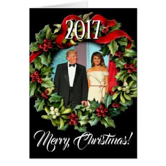 ドナルド・トランプ2017年の大統領及びMelaniaのクリスマス カード