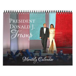 ドナルド・トランプ2018大統領のカレンダーの月例壁 カレンダー
