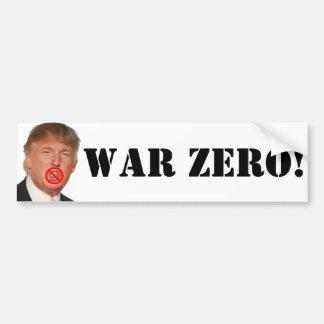 ドナルド・トランプ: 戦争ゼロ! バンパーステッカー