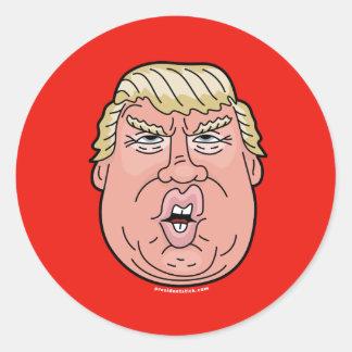ドナルドJ. Trump Cartoonの顔のステッカー ラウンドシール