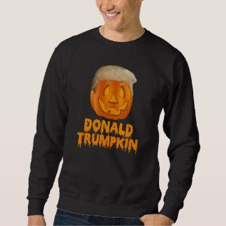 ドナルドTrumpkinの切札ハロウィーンのカボチャのちょうちん スウェットシャツ