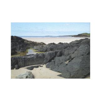 ドニゴールアイルランドの石のプール キャンバスプリント